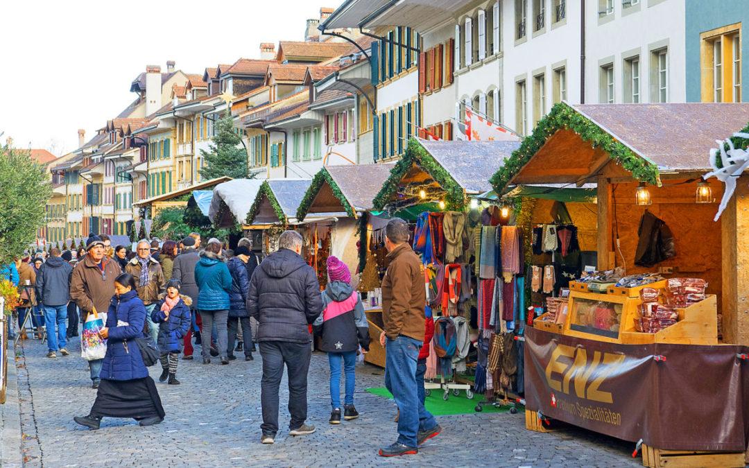 Festliche Stimmung am Weihnachtsmarkt